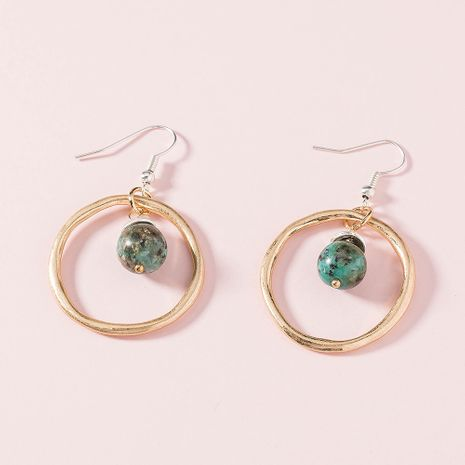 new fashion hand-made natural stone ball aventurine trend exaggerated earrings  NHAN258430's discount tags