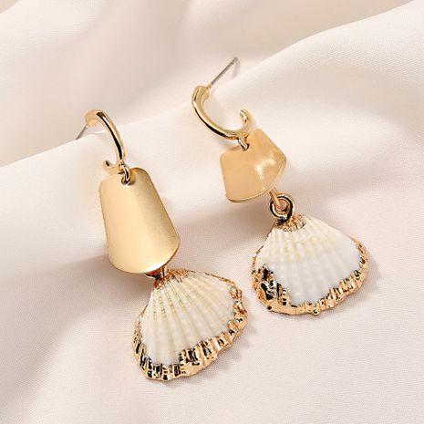 Einfache Mode neue Quaste Perle trendige koreanische natürliche Muschellegierung Ohrringe für Frauen NHAN258438's discount tags
