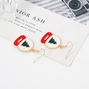 new Christmas series fashion alloy drop oil Christmas earrings wholesale NHDR258447