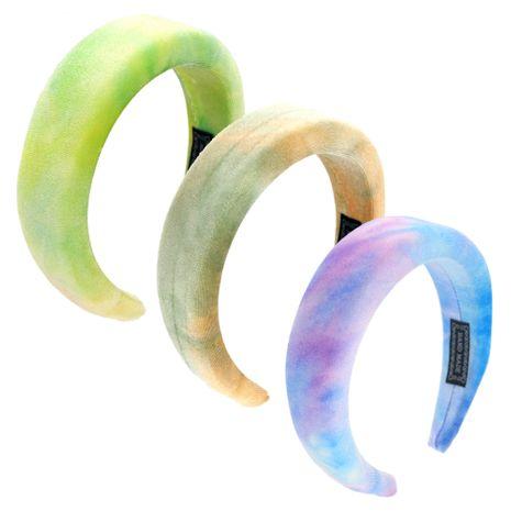 fashion golden velvet sponge bottom plate magic multicolor tie-dye craft headband wholesale NHCO258452's discount tags