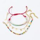 Bohemian style Handmade Rope Braided Loveshaped Trend Rice Bead Multilayer Bracelet NHLA258459