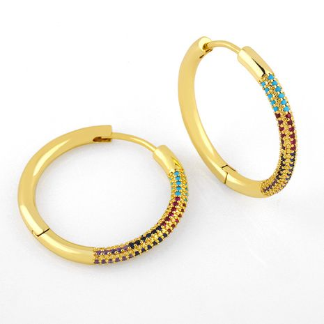 Hot selling personality simple  round diamond earrings wholesale NHAS258480's discount tags