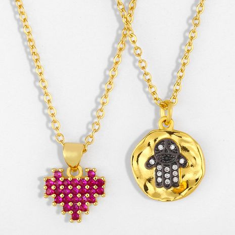Hot selling fashion Halloween Retro Personality Skull Pendant Necklace Sweater chain NHAS258482's discount tags
