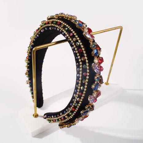fashion simple broad-edged diamond alloy ladies crystal headband wholesale NHMD258493's discount tags