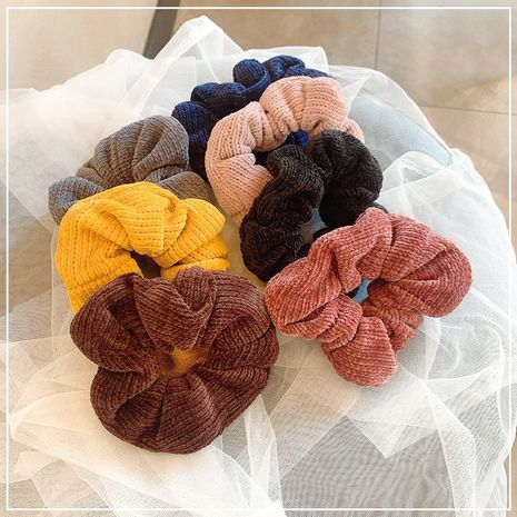 Korean  knitted fabric pure color new elastic hair scrunchies  wholesale NHOF258497's discount tags