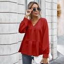 womens new retro classic solid color Tshirt  NHKA258528