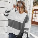 new  fashion contrast stitching sweater  NHKA258534
