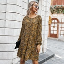 Hot selling fashion sexy leopard print dress wholesale NHKA258554