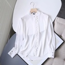 new casual ruffle trim ladies blouse shirt NHAM258683
