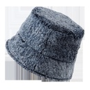 Retro mink velvet fisherman hat mens fashion solid color hat wholesale NHTQ258747