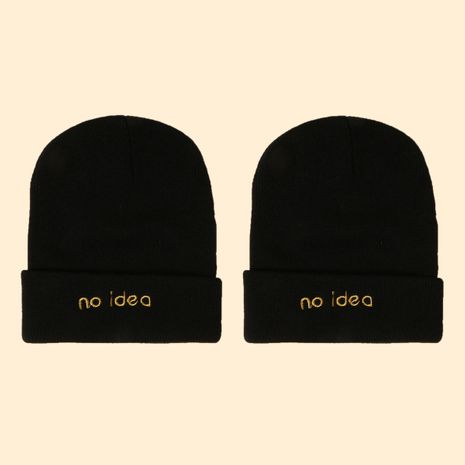 Hot selling fashion embroidery knit hat wholesale NHTQ258760's discount tags