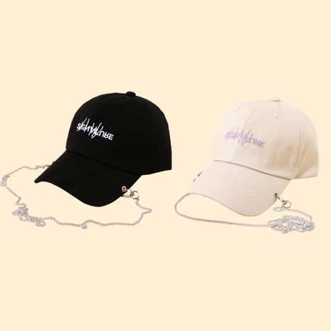 Venta caliente al por mayor de la gorra de béisbol de la letra de cadena larga de la moda NHTQ258783's discount tags