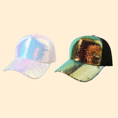 Venta caliente venta al por mayor de la gorra de béisbol de la protección solar del casquillo del color sólido con lentejuelas NHTQ258787's discount tags