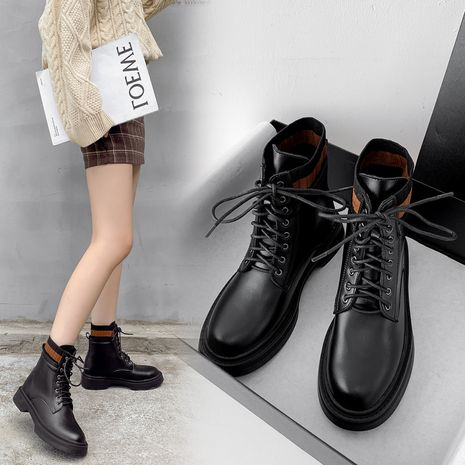 Fashion  new thick heel thick bottom British style single short Martin boots  NHCA258805's discount tags