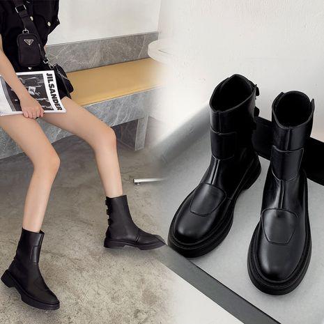 platform wild beef tendon bottom back zipper short  new  women's Martin boots NHCA258806's discount tags