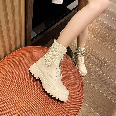 Hot selling thick heel short women's Martin boots wholesale NHCA258831's discount tags