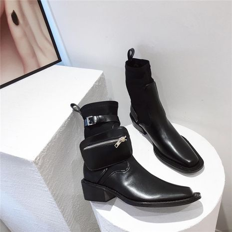 Hot selling fashion  new unisex thick-soled handsome short boots  NHCA258834's discount tags