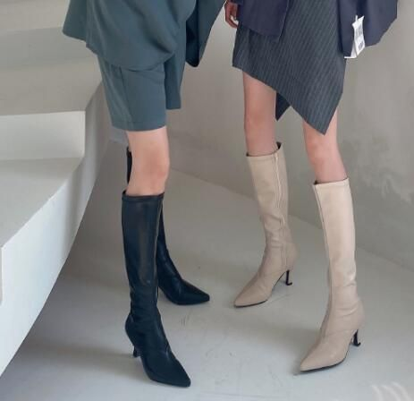 Pointed elastic boots women but knee high boots wholesale NHCA258840's discount tags