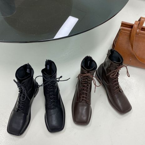 Hot selling fashion Martin boots temperament versatile low-heeled mid-tube boots NHCA258877's discount tags