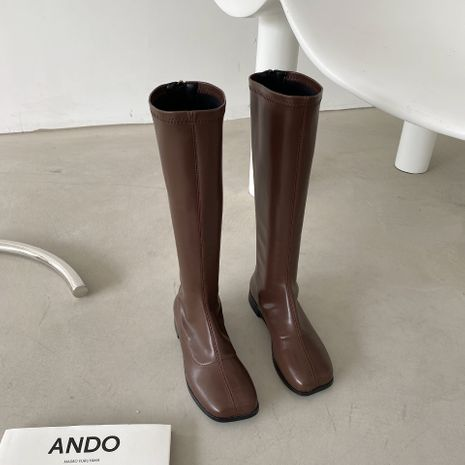 Hot selling fashion knight boots back zipper knee women's long boots wholesale NHCA258880's discount tags
