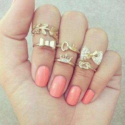 Fashion New Fashion Trend Leaf Bowknot Key Crown Knotted alloy Ring  NHAJ258966's discount tags