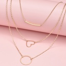 new trend Womens multilayer love fashion accessories necklace combination NHAJ258968
