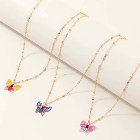 Hot selling fashion butterfly necklaces color butterfly pendants necklaces  NHNU258985's discount tags