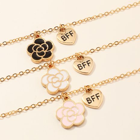 Bauhinia Lollipop Flower BFF Drop Oil Pendant Children's Necklace  NHNU258986's discount tags