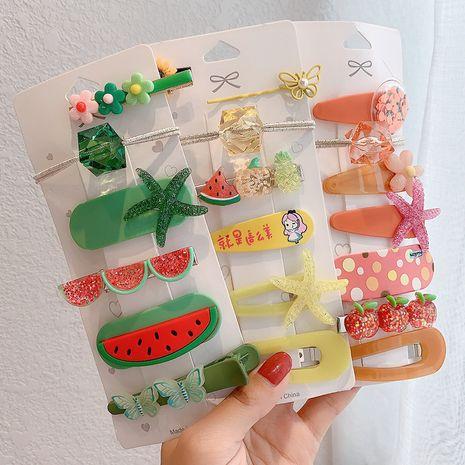 Children's cute fruit cartoon hairpin girl top clip side clip NHCQ259001's discount tags