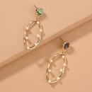 Hot selling natural abalone earrings oval hollow pearl long earrings NHAN259029