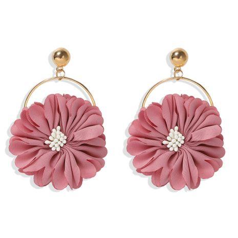 Pendientes de flores de simulación creativa de personalidad de moda NHJQ259036's discount tags