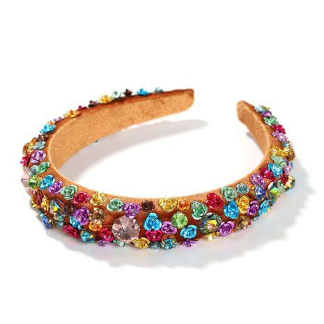 Hot selling fashion wide-sided fashion handmade flower headband wholesale NHJQ259037's discount tags