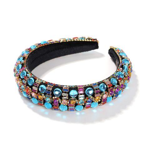 Hot selling fashion rhinestone sponge full drill headband wholesale NHJQ259039's discount tags