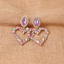 Hot selling fashion heartshaped diamond earrings wholesale NHJJ259048