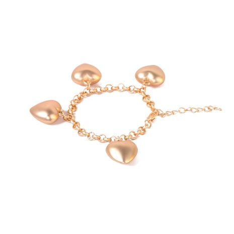 retro heart-shaped exaggerated matte gold metal  bracelet for women NHJJ259052's discount tags