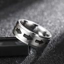 Korean fashion new ring hip hop style trend wild drip ring for men NHIM259082