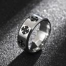 Hotselling fashion new titanium steel cross flower ring wholesale NHIM259099