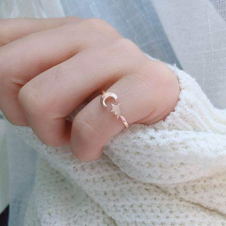 Hot-selling fashion simple new star moon tail ring for women NHIM259100's discount tags