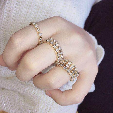 Hot-selling fashion new rhinestone elastic diamond alloy ring set  NHIM259104's discount tags