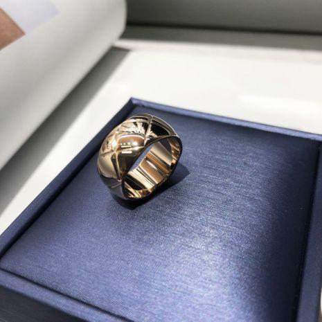 Hot-selling fashion new Titanium Steel Diamond Check Ring NHIM259110's discount tags