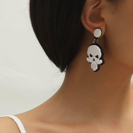 Hot selling fashion creative cute fun creative skull earrings NHKQ259137's discount tags