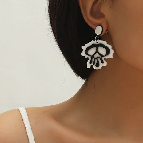 Hot selling fashion Halloween new fun funny skull earrings wholesale NHKQ259139's discount tags