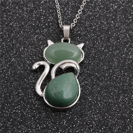 Nouveau collier pendentif chat chaîne en acier inoxydable de style ethnique de mode de vente chaude NHYL259196's discount tags
