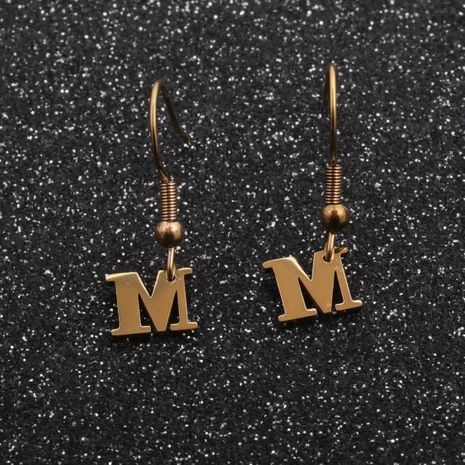 Hot-selling earrings stainless steel letter earrings customized NHYL259201's discount tags