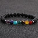 hot sale white turquoise volcanic stone seven chakra yoga bracelet  NHYL259204