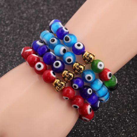hot sale new Devil's eye beaded Buddha head bracelet wholesale NHYL259205's discount tags