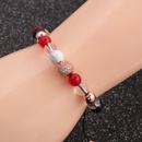 Fashion new 8MM white turquoise diamond ball bracelet for women NHYL259210