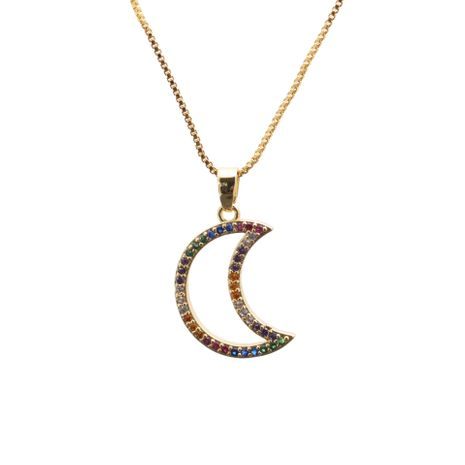 New simple Star fashion Moon copper Pendant Necklace for women NHYL259211's discount tags