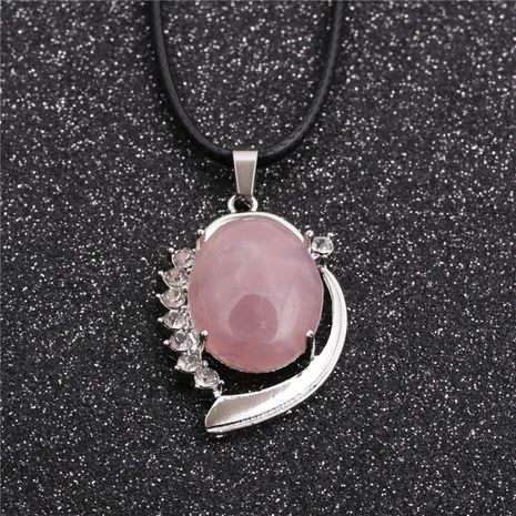nouvelle mode géométrique style ethnique dames coréenne corde de cire rose collier pendentif spar NHYL259218's discount tags