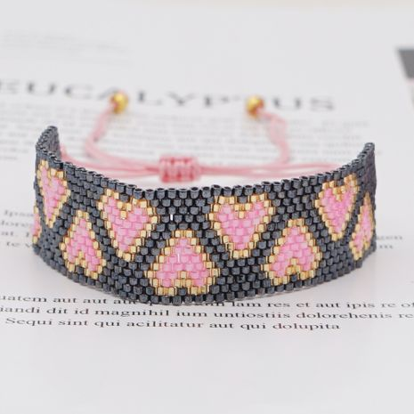 hot-saling fashion trend love rice beads braided bracelet  NHGW259228's discount tags